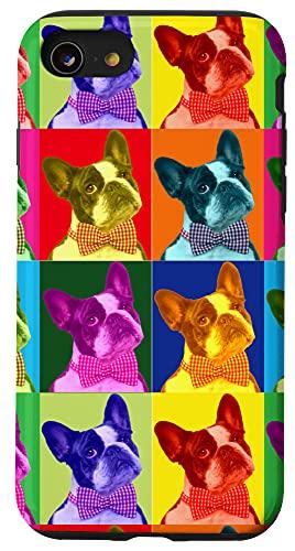 iPhone SE (2020) / 7 / 8 French Bulldog Pop Art Portrait Funny Dogs Case