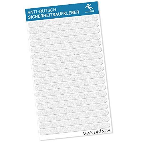 Wandkings Anti-Rutsch-Sticker 18 Klebestreifen 20 x 1,5 cm für Sicherheit in Badewanne und Dusche