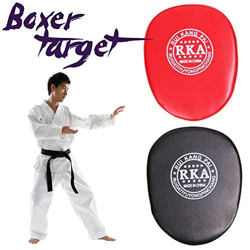 XIAMUSUMMER Boxen Pratzen, PU Handpratzen Teller, Pratzen vorgekrümmt Fashion Boxhandschuhe Training Ziel Fokus Boxhandschuhe Karate Kick Kit