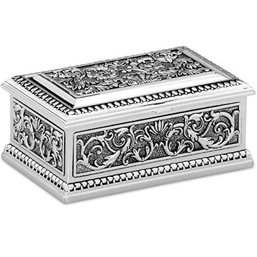 SILBERKANNE Schmuckdose Deluxe 9x5,5x4 cm Silber Plated versilbert in Premium Verarbeitung