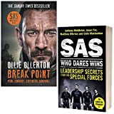 Break Point By Ollie Ollerton & SAS Who Dares Wins Leadership Secrets from the Special Forces By Anthony Middleton 2 Books Collection Set