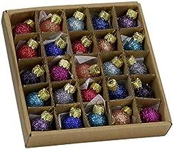 Kurt Adler .78 Glitter Glass Ball Ornaments - 25 Pieces #C1962 by Kurt Adler