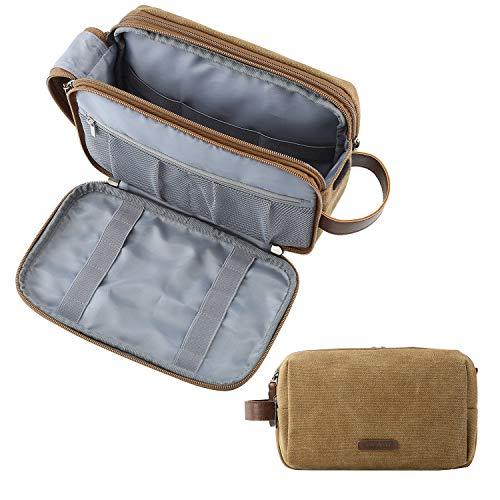 Toiletry Bag for Men, BAGSMART Travel Toiletry Organizer Dopp Kit Water-resistant Shaving Bag for Toiletries Accessories