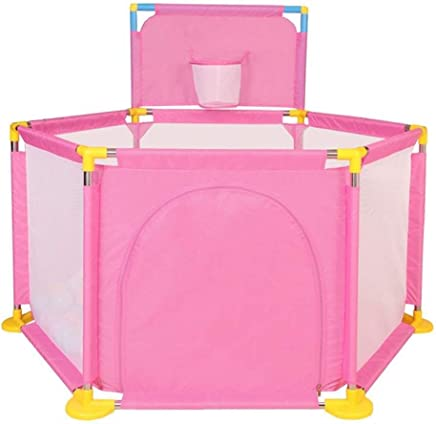 WJSW Infant Child Protection Fence Toy Baby Crawling Toddler Game Fence Shooting Fence Indoor And Outdoor Security Fence  Color Pink
