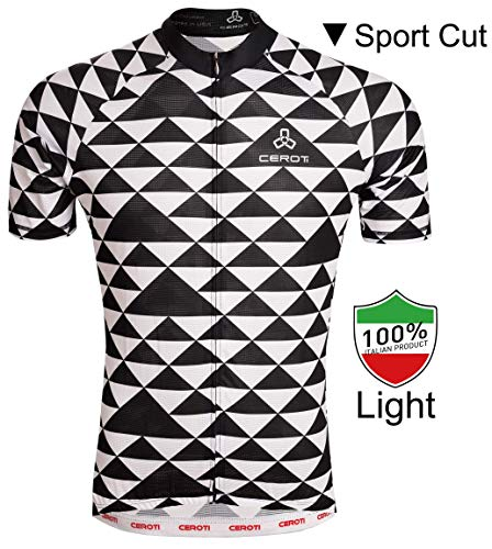 CEROTIPOLAR Men's Club Comfy Fitting Cool Summer Cycling Jersey, Bike Jersey UPF50+