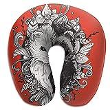 Agnes Carey Cuscino per Collo a Forma di U Cuscino per Furetto Yin-Yang Morbido Portatile per Dormire in Viaggio