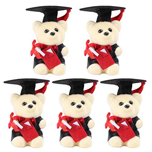 jojofuny 5 ositos de peluche para graduación, regalo de graduación (con tapa)
