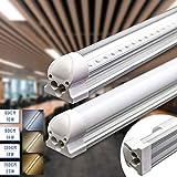 Leuchtstoffröhre 120cm, Led Röhre 18W 1900lm 4000K Neutralweiss Led Unterbauleuchte komplett-Set mit Fassung Transparente Abdeckung
