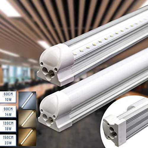 Led Unterbauleuchte Küche Lichtleiste Röhre T8 LED Leuchtstoffröhre 150cm 23W 2450lm 4000K Neutralweiss Transparente Abdeckung