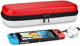 Deluxe Carrying Case for NS Nintendo Switch & Pokeball Plus Controller   Portable Travel Protective EVA Hard Shell W/Rubberized HandleAccessory Bag Case for Movie Pokémon Detective Pikachu Pokemon