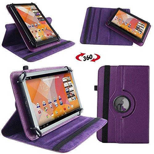NAUC Tasche Hülle für Blaupunkt Endeavour 101M 101L Tablet Schutzhülle Case Tab Cover, Farben:Lila
