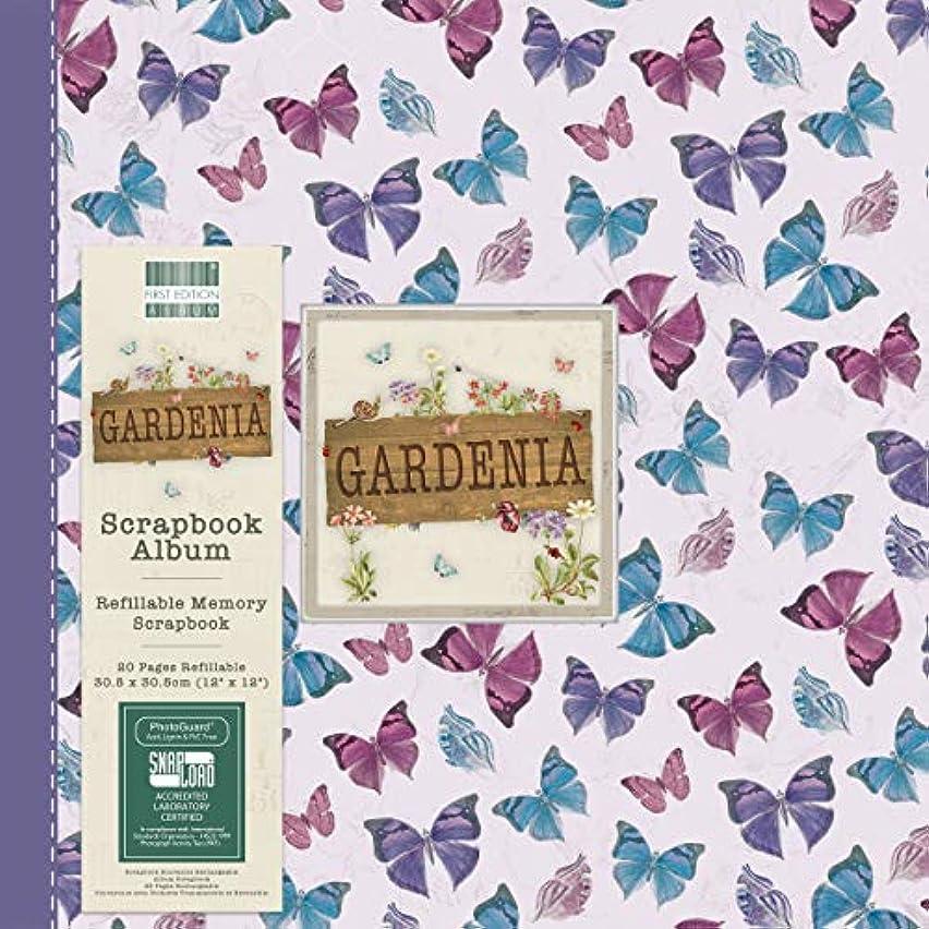 First Edition Gardenia Butterflies Scrapbook Album 12