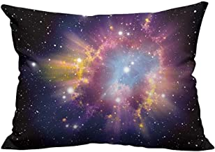 YouXianHome Pillow Case Cushion Cover Supernova Explosion Printing Dyeing (Double-Sided Printing) 13x17.5 inch