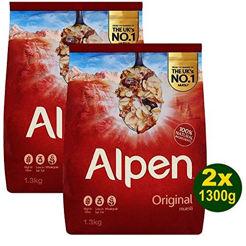 Alpen Original Swiss Recipe 2x 1300g (2600g) - Müsli nach Original Schweizer Rezept
