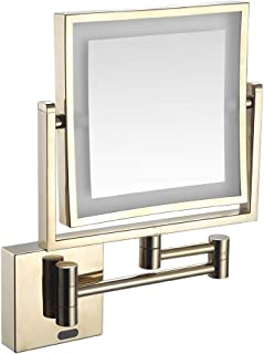 8 بوصة جدار جبل فانيتي ماكياج مرايا الإنسان الجسم الاستقراء مزدوجة الوجهين 1X، 3X التكبير الحمام مرآة التجميل