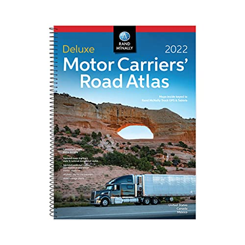 Rand McNally 2022 Deluxe Motor Carriers Truckers Road Atlas Spiral/Laminated