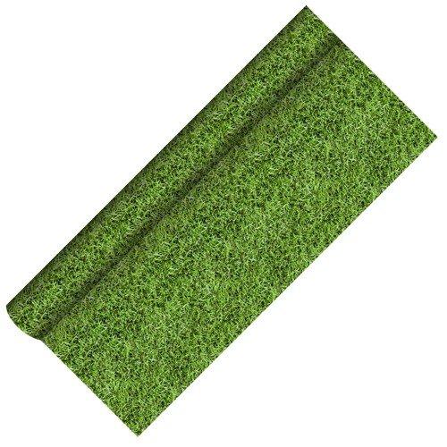 """5 m Tischdecke, Papier 5 m x 1,2 m """"Fussball"""" lackiert Tischtuch Tischläufer grün"""