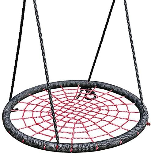 FDGSD Swing Seat Disc Giant Nest Web Cuerda Juego de árbol Colgante Nido al Aire Libre Redondo Spider Play Juguete Silla Accesorios Disco Canasta Colgante Gigante Red de suspensión de Sentido infa
