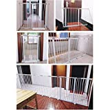 Cerca de 25 cm extra ancho seguridad del bebé Puertas de Escaleras Dual Lock cierre automático cerca del perro de animal doméstico jaula de perro con la puerta cubierta Bar Escalera Barrera de Fuego P