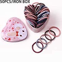 12 ピース/セット高弾性ヘアバンド固体真珠のストレッチ女性のための女の子ポニーテールホルダーヘアロープヘアアクセサリー