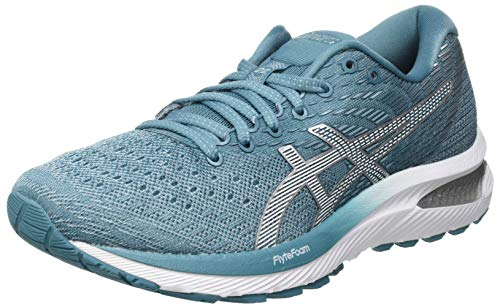 Asics Damen GEL-Cumulus 22 Road Running Shoe, Smoke Blue/White, 39.5 EU