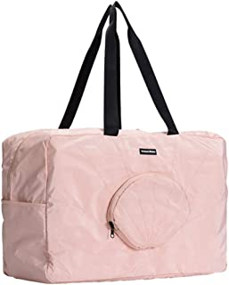 PRETYZOOM Foldable Travel Duffel Bag Shell Shape Bag Carry On Waterproof Large Capacity Luggage Tote for Outdoor Travel BusinessシPink シ