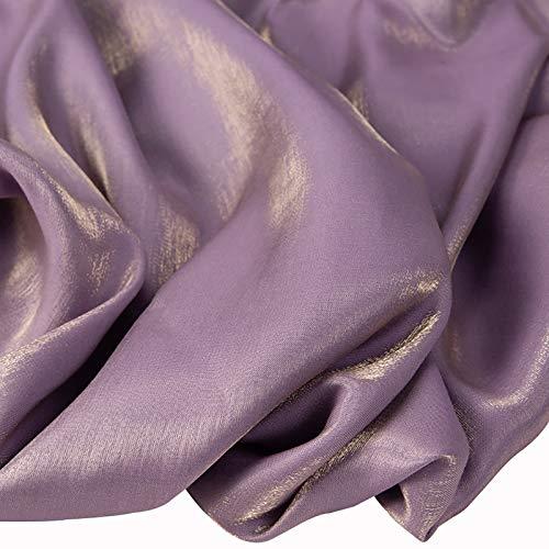 MUYUNXI Tela De Raso Forro De Tela para Vestidos De Novias Fundas Artesanías Vestidos Blusas Ropa Interior 150 Cm De Ancho Vendido por Metro(Color:Taro Morado)