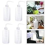 BoloShine 4 Pezzi Bottiglia Squeeze, 500 ml Bottiglia Lavaggio, Sicurezza Plastica da Spremere Bottiglia con Bocca Stretta per Piante Irrigazione, Laboratorio, Condimento