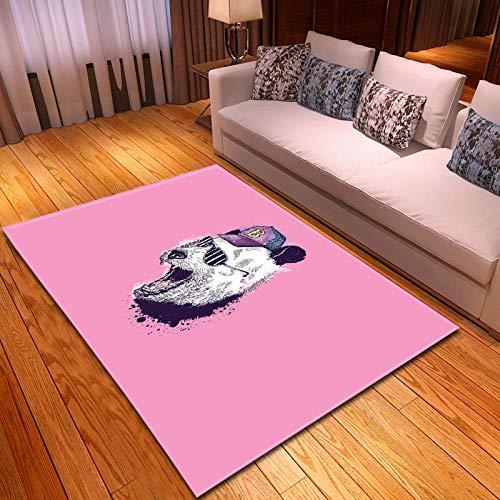 Alfombras Salon Grandes 80x160cm Rosa Patrón Diseño Moderno Alfombras Mullida Tacto Suave Antideslizante Lavable Que no se Desprende Aplicar para Dormitorio Cocina Pasillo Habitacion Rugs