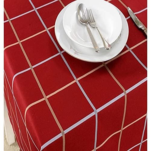 XGguo Cubierta de Mesa Lavable Resistente al Aceite, Restaurante Occidental Café Europeo de Lino de algodón