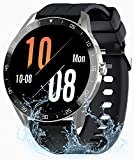 Relojes Inteligentes Hombre Mujer, Gretel Smartwatch - Pulsómetro, Monitor de Sueño, Cronómetros, Notificación Inteligente, Impermeable IP68, Pulsera Actividad Inteligente Compatible con Android y iOS