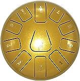 Tambor de Lengua de Acero, Tambor de la lengua de acero de 8 pulgadas, instrumento de percusión del tambor de baterista etéreo de 11 tonos con el kit de batería portátil y los palillos para la musicot