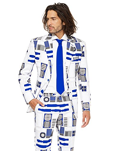 OppoSuits Star Wars™ Men's Suit - Official R2-D2™ Costume Comes with Pants, Jacket and Tie