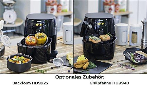 Philips HD9641/90 Airfryer Turbostar (1425 W, Heißluftfritteuse, ohne Öl, für 2-3 Personen, digitales Display) schwarz - 5
