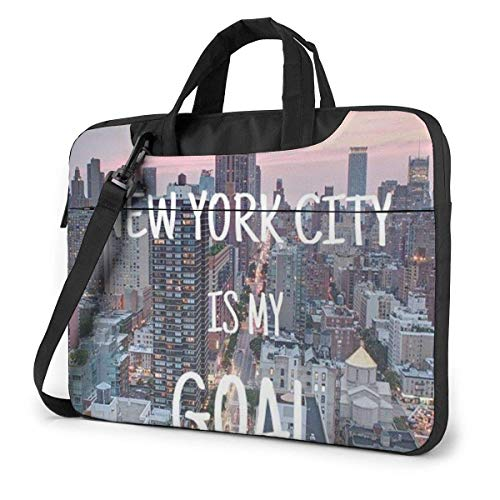 15.6″Durable Hombro Mensajero Bolsa maletín PC Nueva York Moda Impermeable Ordenador Portátil/portátil/Tablets