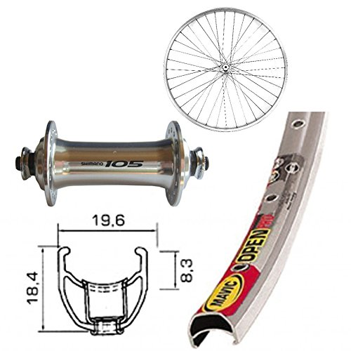Bike-Parts Unisex - Bicicleta V-RAD 700C, Color Plata, Talla única