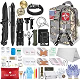 152 Pcs Emergency Survival Kit and First Aid Kit, Professional Survival Gear Tool with Tactical Molle Pouch and Emergency Tent for Earthquake, Outdoor Adventure, Camping, Hiking, Hunting