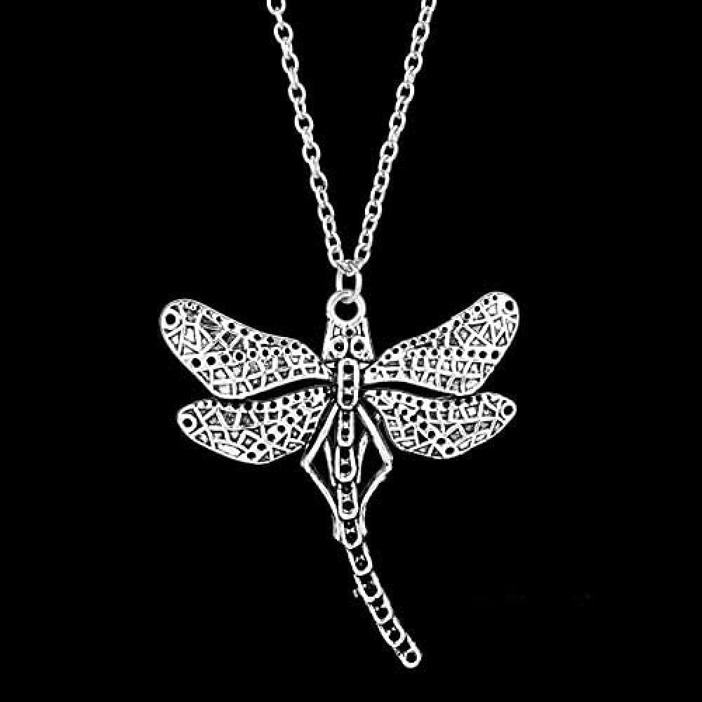 LJQJYFC Fashion Outlander Necklace Dragonfly Pendant Fit Necklace Women Choker Necklace Collars