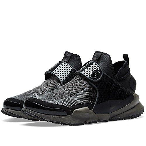 Nike Mens Stone Island Sock Dart Mid Black/Sail Fabric Size 6