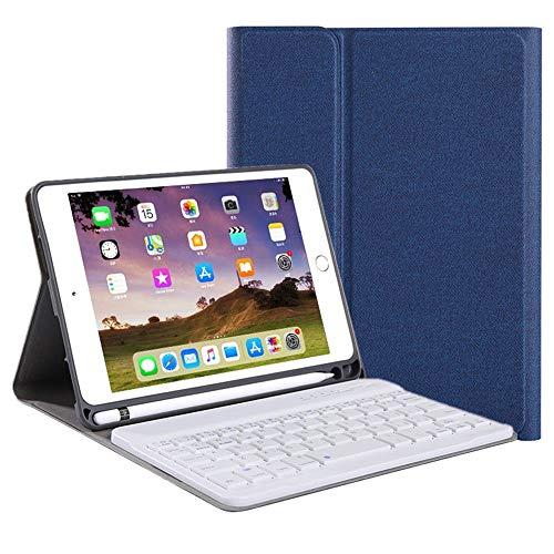 ペンホルダー内蔵 iPad mini 5 mini4 キーボード ケース Apple Pencil アップルペンシル 収納可能 2019 新型 アイパッド ミニ5 ミニ4 分離式 Bluetooth スマート キーボード付き 保護カバー 薄型 スリム (i