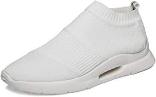 Happy-L Shoes, Men's High Elasticity Slip-on Style Sock-Like Sneakers Fabrics Lightweight Sports Running Shoes