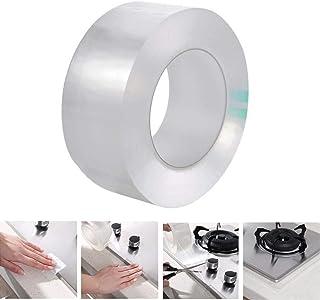 Cinta adhesiva multifuncional no residual para uso en interiores o exteriores, resistente al agua y al moho, cinta adhesiva transparente para baño, cocina, fregadero, lavabo, ducha, inodoro y pared