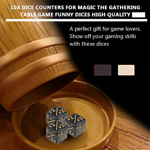 10 marcadores de Dados para Magic The Gathering Juego de Mesa Dados Divertidos: Amazon.es: Hogar