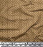 Soimoi Braun Satin Seide Stoff dots Hemdenstoff Stoff