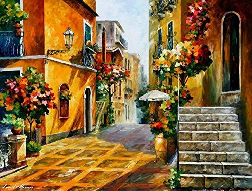 Italian Art Sicily Paintings On Canvas By Leonid Afremov Studio - The Sun Of Sicily