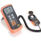 Dr. Meter LX1330B–Luxómetro digital, 200.000lux, con gran precisión, reacción rápida y retención de los datos