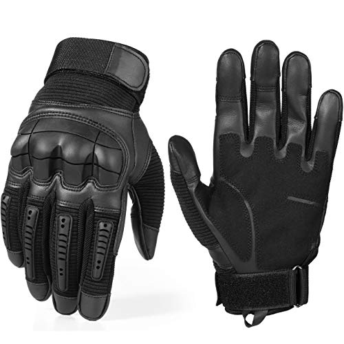 AXBXCX Motorcycle Touch Screen Full Finger Gloves for Cycling Motorbike ATV Riding Driving Racing Hiking Riding Climbing Camping Work Sports Gloves Black XL