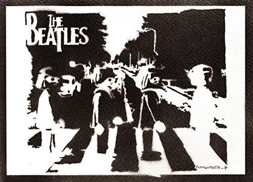 Póster The Beatles Clicks Playmobil Grafiti Hecho a Mano - Handmade Street Art - Artwork