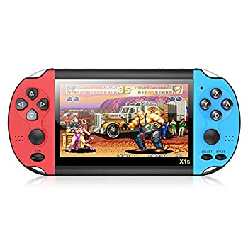 asdec Handheld Game Console Built-in Free 10000 Games 8GB 4.3 TFT Screen Media Player with Camera Support TV Output Portable Rechargeable Game Console for AVI FIV RM RMVB 3GP ASF MPEG Etc