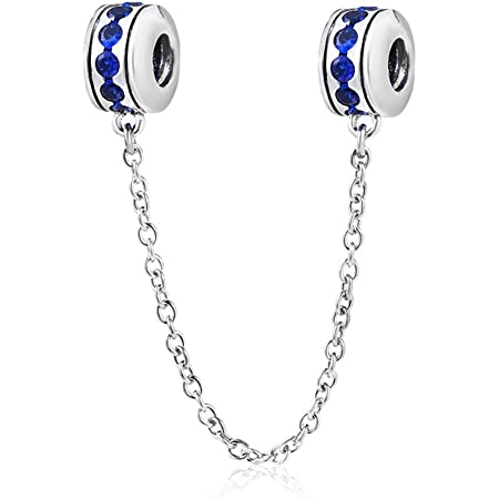 Breloque en argent sterling 925 avec clip pour bracelet Pandora bleu